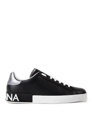 Dolce & Gabbana: trainers - Portofino black calfskin sneakers
