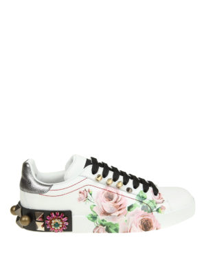 Dolce & Gabbana: trainers - Portofino embellished sneakers