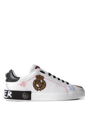 Dolce & Gabbana: trainers - Portofino Forever leather sneakers