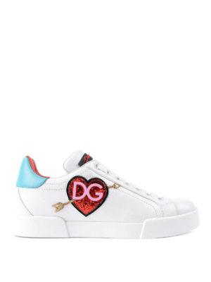Dolce & Gabbana: trainers - Portofino glittered logo sneakers