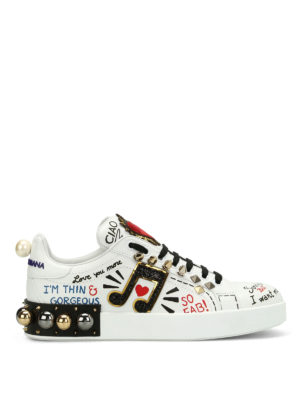 Dolce & Gabbana: trainers - Portofino gorgeous printed sneakers