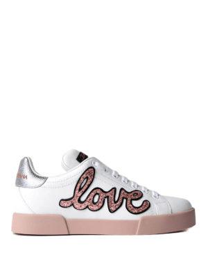 Dolce & Gabbana: trainers - Portofino love patch sneakers