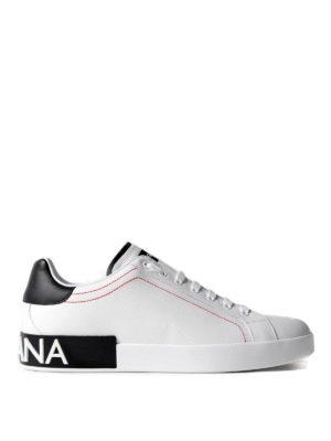 Dolce & Gabbana: trainers - Portofino low top calfskin sneakers