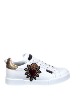 Dolce & Gabbana: trainers - Portofino sneakers with heart patch