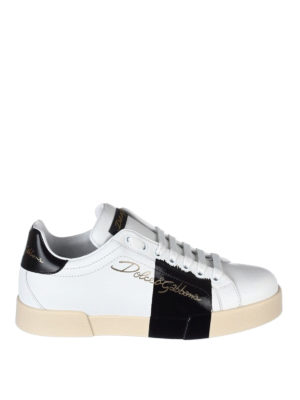 Dolce & Gabbana: trainers - Portofino white leather sneakers