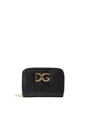 Dolce & Gabbana: wallets & purses - Black Dauphine compact wallet