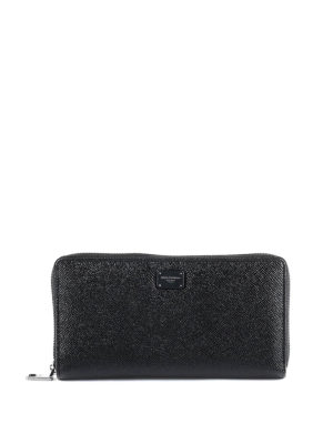Dolce & Gabbana: wallets & purses - Black Dauphine continental wallet