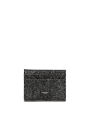 Dolce & Gabbana: wallets & purses - Black Dauphine leather card holder