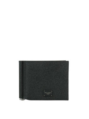 Dolce & Gabbana: wallets & purses - Black Dauphine leather wallet