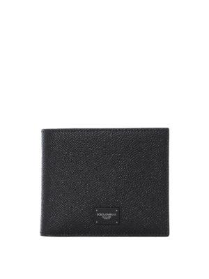 878b7fb2dd DOLCE & GABBANA: portafogli - Portafoglio nero in pelle Dauphine