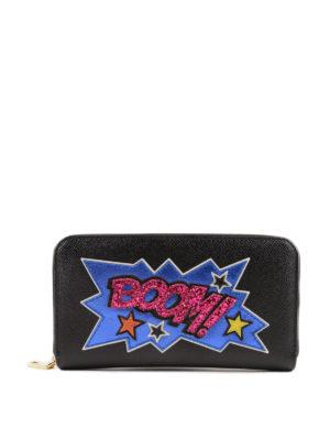DOLCE & GABBANA: portafogli - Portafoglio Boom in pelle Dauphine