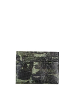 DOLCE & GABBANA: portafogli - Porta carte Camou Green con 4 scomparti