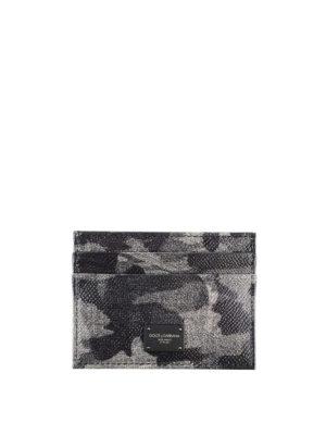 DOLCE & GABBANA: portafogli - Porta carte Camou Grey con 4 scomparti