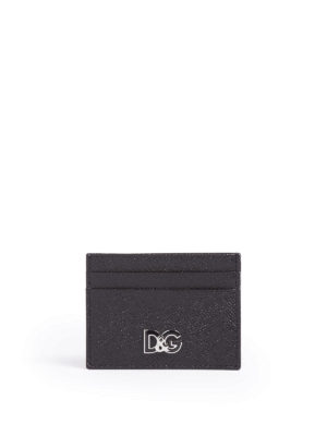 Dolce & Gabbana: wallets & purses - Dauphine calf leather card holder