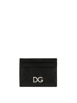 DOLCE & GABBANA: portafogli - Portacarte gioiello in Dauphine