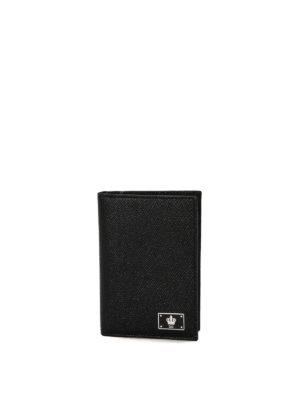 Dolce & Gabbana: wallets & purses - Dauphine leather bi-fold wallet