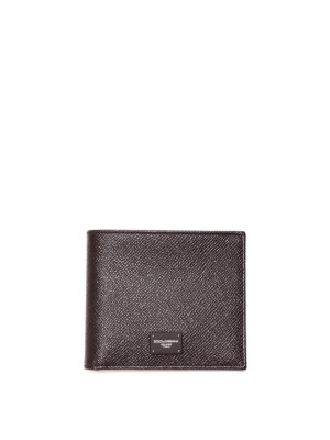 Dolce & Gabbana: wallets & purses - Dauphine leather black wallet