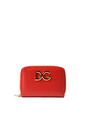 Dolce & Gabbana: wallets & purses - Dauphine leather compact wallet