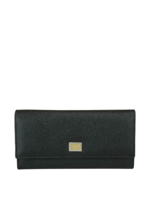 Dolce & Gabbana: wallets & purses - Dauphine leather continental wallet