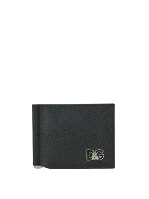 DOLCE & GABBANA: portafogli - Portafoglio D&G in pelle Dauphine con clip