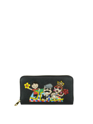 Dolce & Gabbana: wallets & purses - DG Family dauphine leather wallet