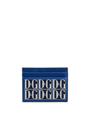 e668f6d477 DOLCE & GABBANA: portafogli - Portacarte con stampa a quadri D&G