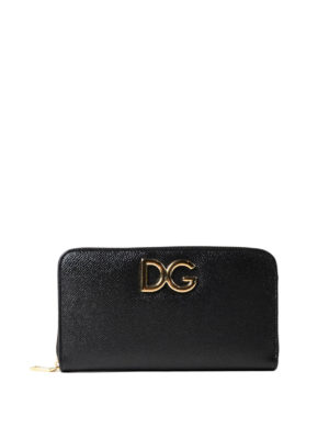 Dolce & Gabbana: wallets & purses - Floral inner saffiano wallet