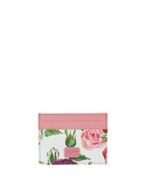 DOLCE & GABBANA: portafogli - Portacarte con stampa floreale