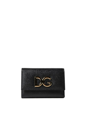 Dolce & Gabbana: wallets & purses - French flap Dauphine leather wallet