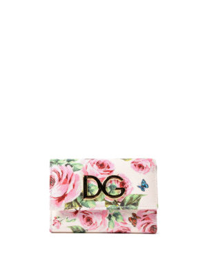 Dolce & Gabbana: wallets & purses - French flap printed leather wallet