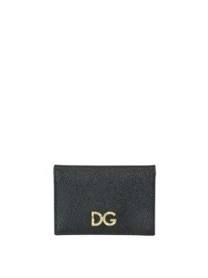 DOLCE   GABBANA  portafogli - Piccolo portafoglio con logo gioiello ba69642a47e