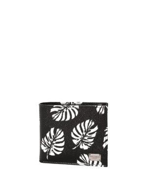 Dolce & Gabbana: wallets & purses - Leaf print bi-fold wallet