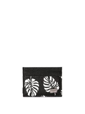Dolce & Gabbana: wallets & purses - Leaf print card holder