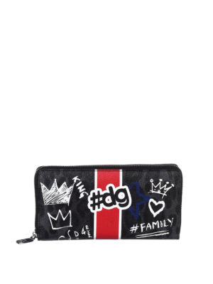 Dolce & Gabbana: wallets & purses - Leo and graffiti print wallet