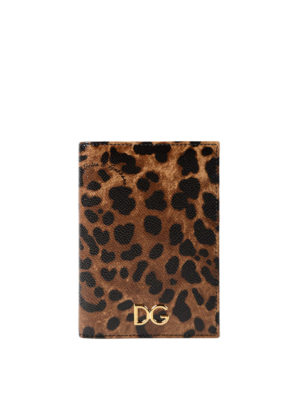 Dolce & Gabbana: wallets & purses - Leo print Dauphine passport case