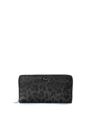 Dolce & Gabbana: wallets & purses - Leo print zip around wallet