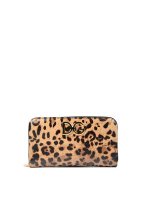 Dolce & Gabbana: wallets & purses - Leo printed leather wallet