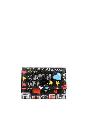 DOLCE & GABBANA: portafogli - Portafoglio Murales pattina e logo