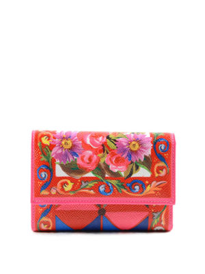 Dolce & Gabbana: wallets & purses - Mambo print leather trifold wallet