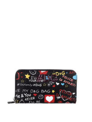 Dolce & Gabbana: wallets & purses - Mural print leather wallet