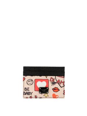 DOLCE & GABBANA: portafogli - Portacarte rosa stampa Murales