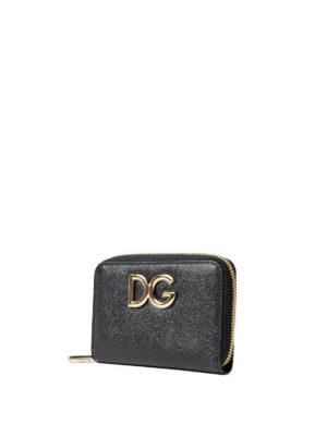 Dolce & Gabbana: wallets & purses online - Black Dauphine compact wallet