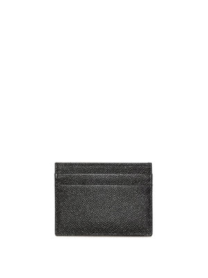Dolce & Gabbana: wallets & purses online - Black Dauphine leather card holder