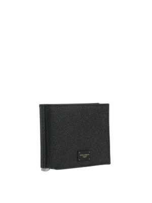 Dolce & Gabbana: wallets & purses online - Black Dauphine leather wallet