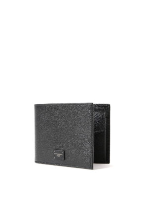 Dolce & Gabbana: wallets & purses online - Dauphine leather bifold wallet