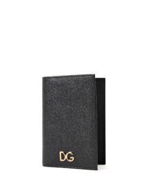 Dolce & Gabbana: wallets & purses online - Dauphine leather passport case