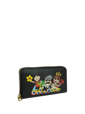 Dolce & Gabbana: wallets & purses online - DG Family dauphine leather wallet