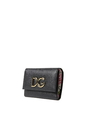 Dolce & Gabbana: wallets & purses online - French flap Dauphine leather wallet