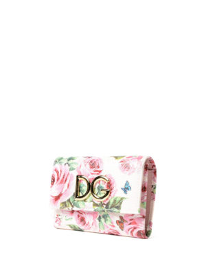 Dolce & Gabbana: wallets & purses online - French flap printed leather wallet