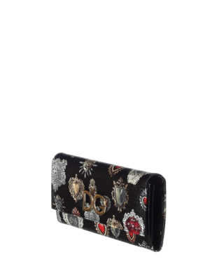 Dolce & Gabbana: wallets & purses online - Heart print Dauphine leather wallet